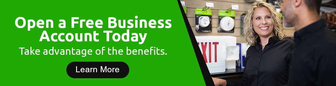 Open a Free Business Account Today. Take advantage of the benefits. Learn more.